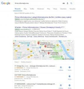 Firma informatyczna Google Maps