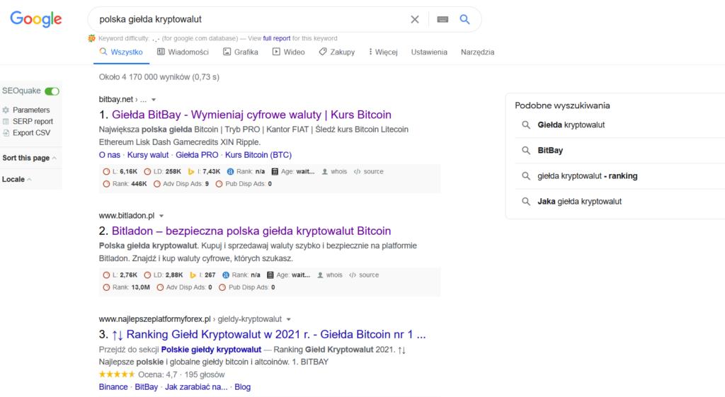 polska giełda kryptowalut google
