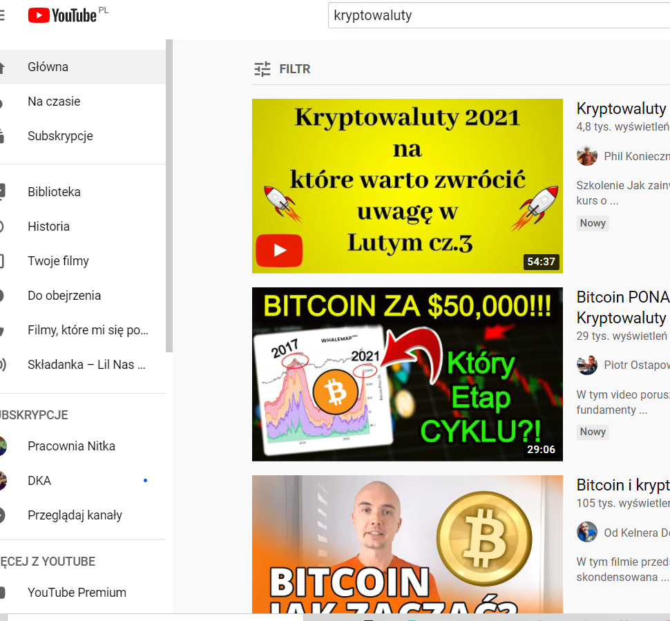 kryptowaluty youtube